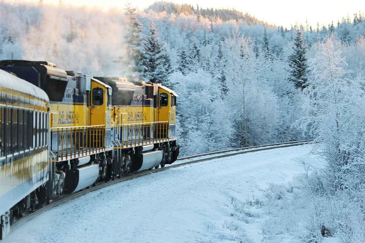 H0 Gleispläne Titelbild modellbahning.de : Eisenbahn im Winter Alaska