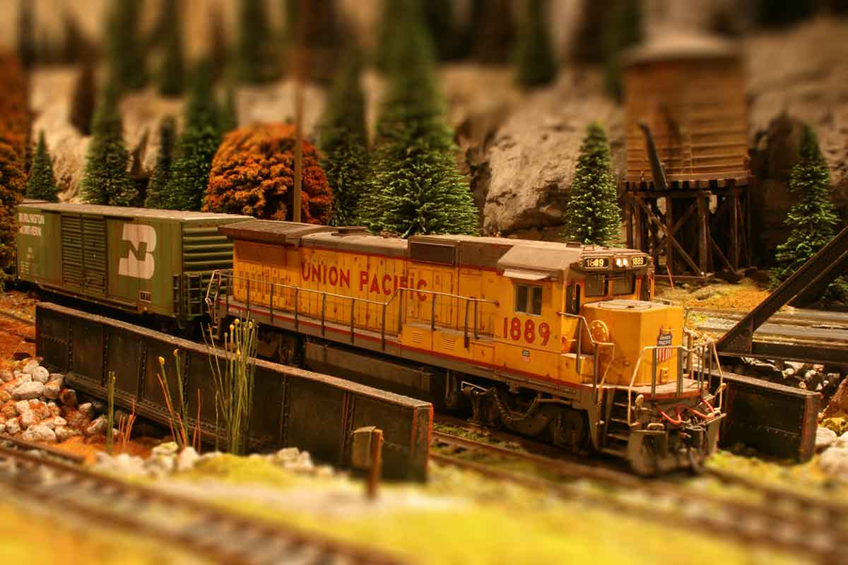 A model railway based on a fictional location in the United States. by Graham Causer, Wombourne, United Kingdom