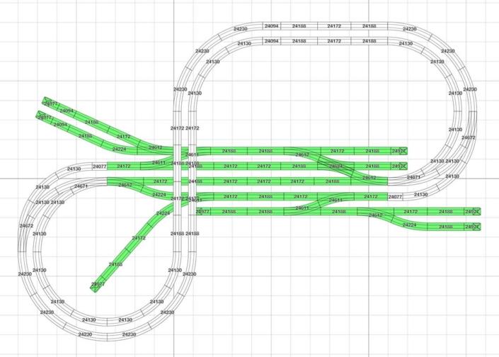 Kleiner Gleisplan H0 Märklin C-Gleis