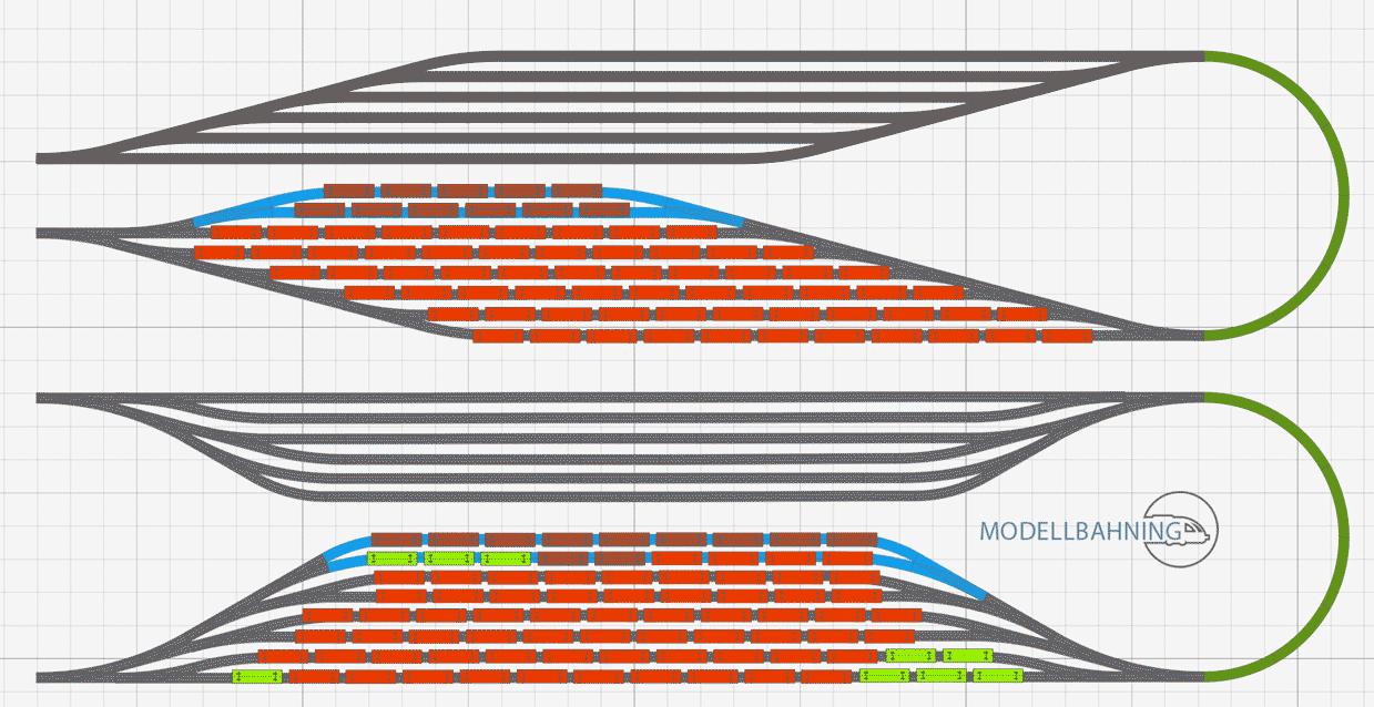 Gleisplanung Schattenbahnhof - optimale Raumnutzung