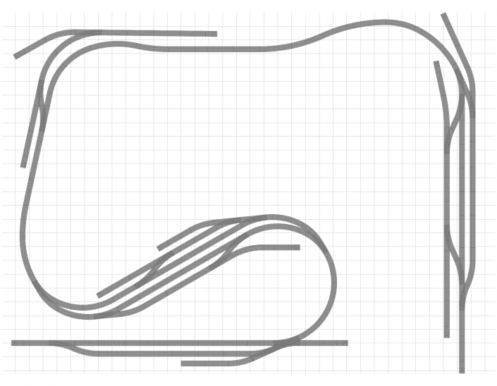 Gleisplan Point to Point Thema mit dem Märklin C-Gleis