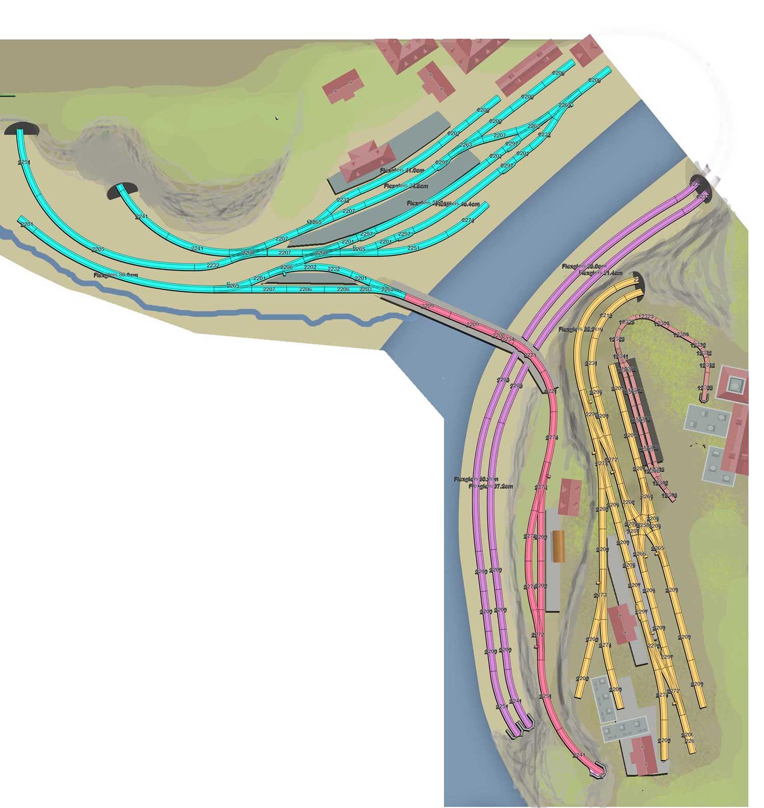 H0 Gleisplan: Erzverladung und schöne Paradestrecke