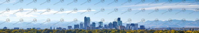 H0 Modellbahnhintergrund Denver Colorado