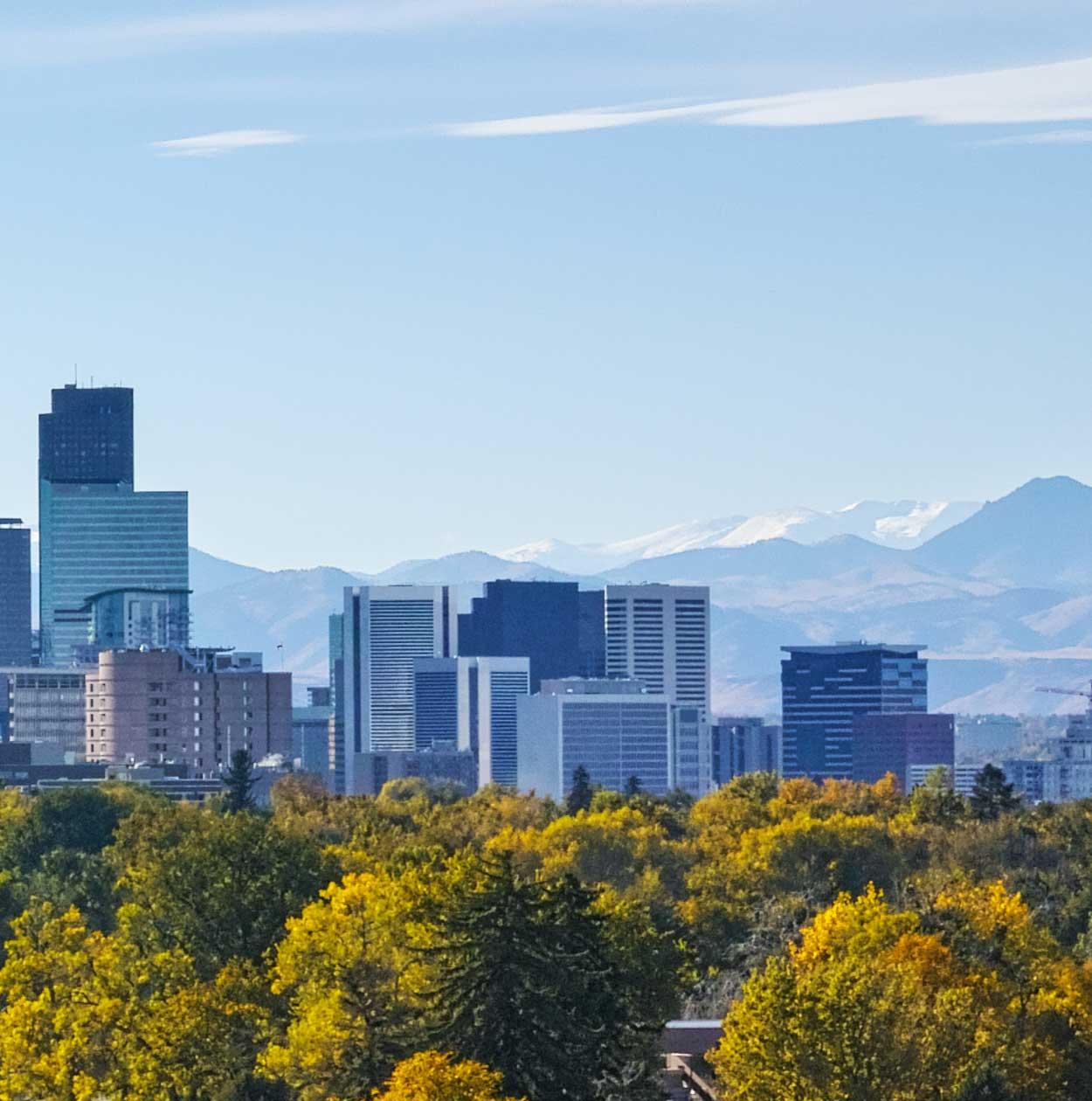 """Modellbahn Hintergrund """"Denver Skyline"""" auf 3 x 0,5 Meter 1"""