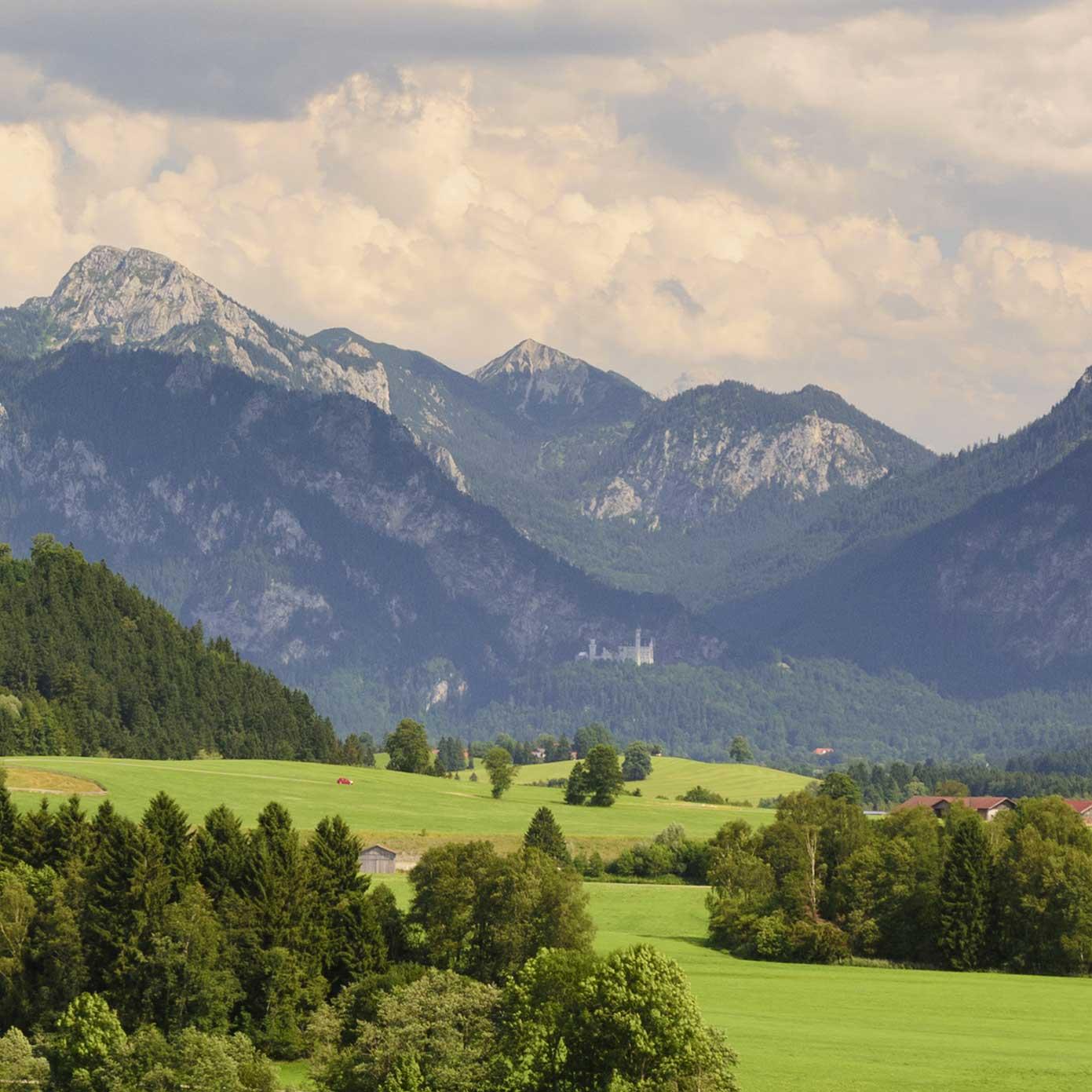 """Modellbahn Hintergrund """"Schwangau im Allgäu"""" 2"""