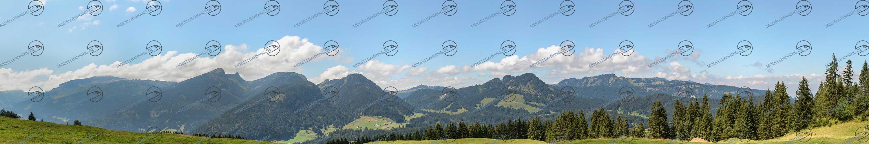 Modellbahn-Kulisse, Modellbahn Hintergründe Alpen-Panorama: Österreich Kleinwalsertal