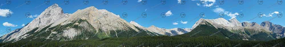 Rocky Mountains Modellbahn Hintergrund 3 Meter Mal 50 cm