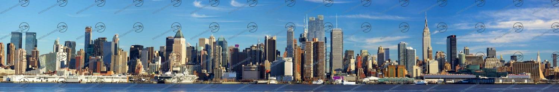 Abbildung Modellbahnhintergrund New-York Skyline Hochwertiger Hintergrund für die Modellbahn-Anlage. Direkt auf Platte gedruckt.