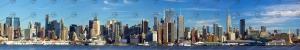 Abbildung Modellbahnhintergrund New-York Skyline