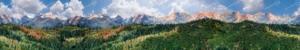 Endlos-Modellbahn-Kulisse: Wald berge und Himmel