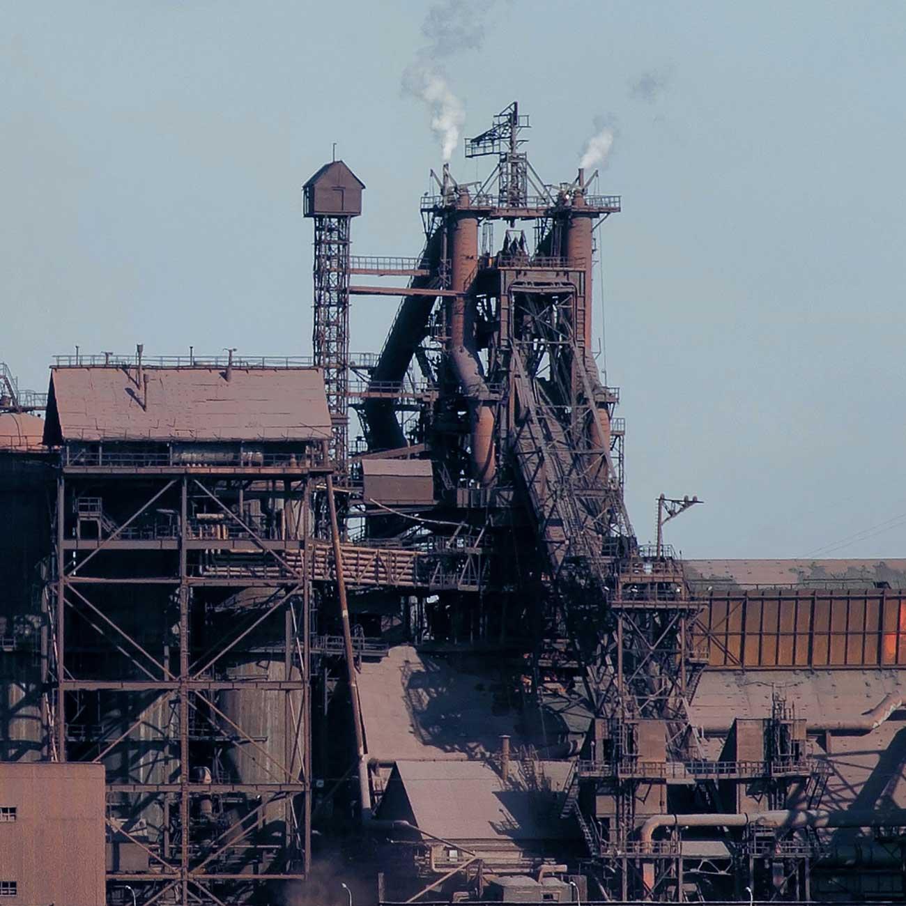 """Modellbahn Hintergrund """"Industrie-Panorama"""" auf 3 x 0,5 Meter 2"""