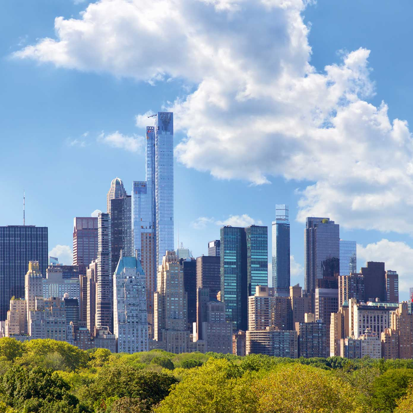 Modellbahn Hintergrund Metropolis NY-Skyline auf 3 x 0,5m 1