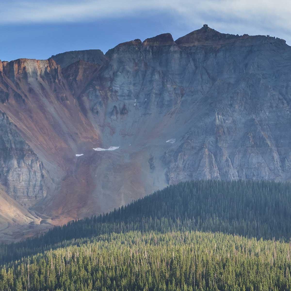 Detail Modellbahn-Kulisse High Rocky Mountains Webansicht