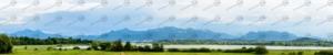 Hintergrund für die Modellbahn Bayern Chiemsee