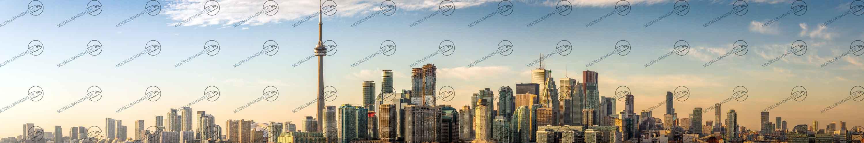 Toronto Skyline, Canada Modellbahn Kulisse