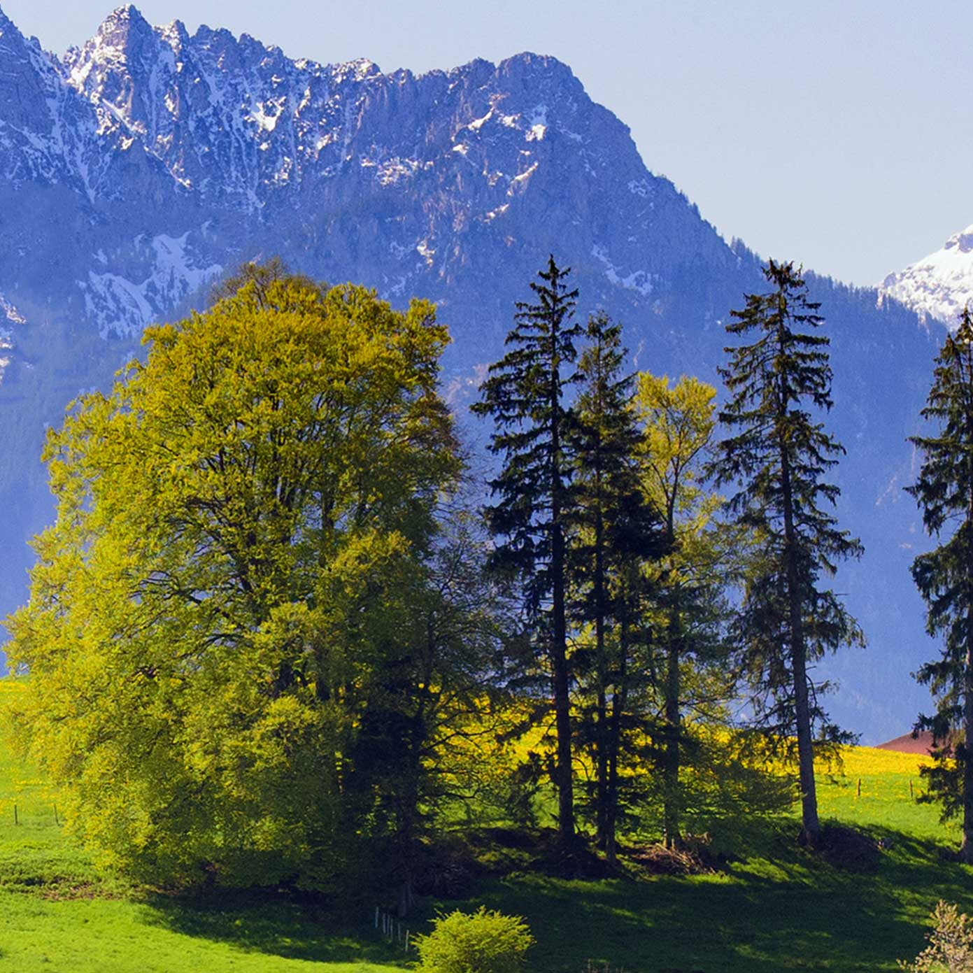 """Modellbahn Hintergrund """"Bayern mit Alpenbergen"""" 1"""