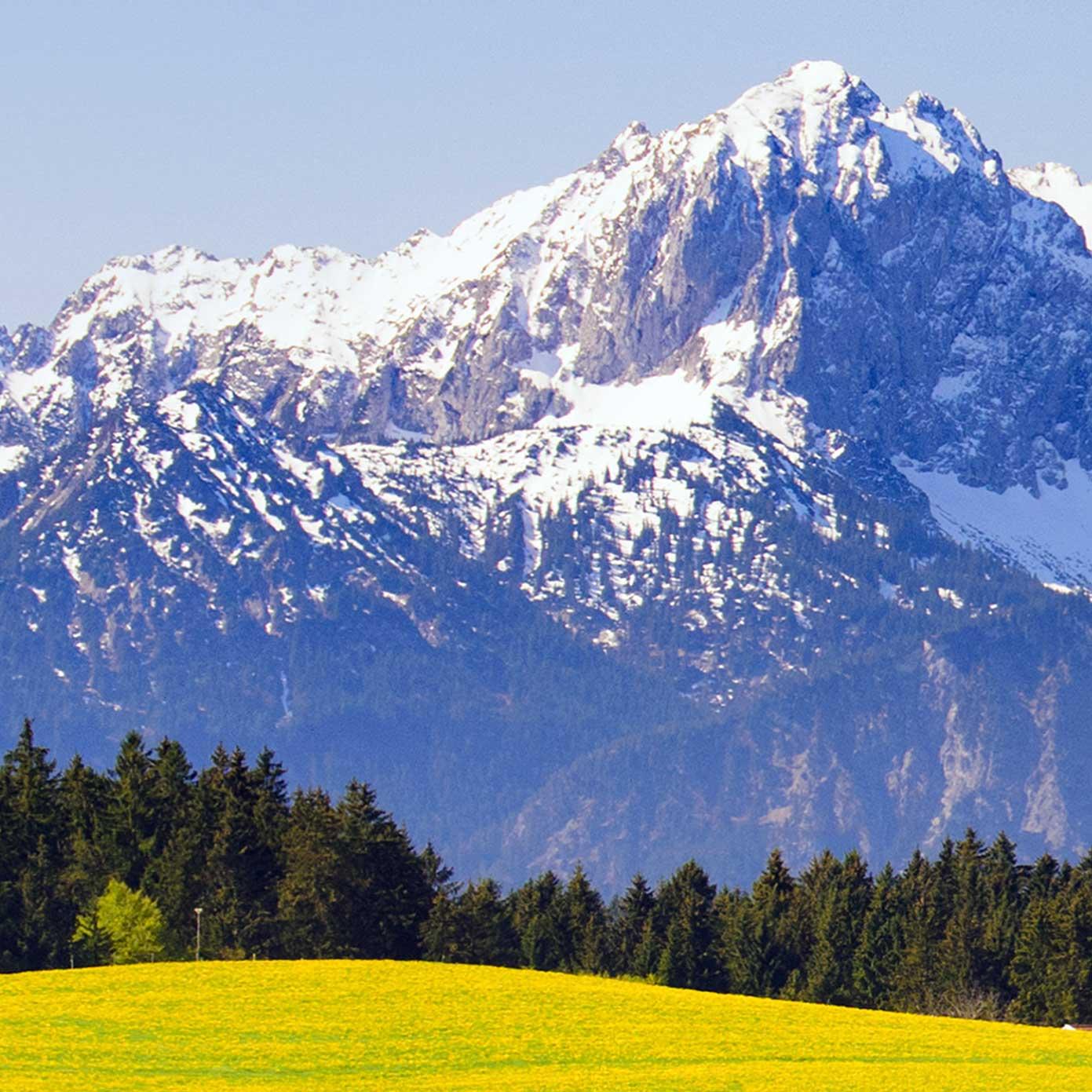 """Modellbahn Hintergrund """"Bayern mit Alpenbergen"""" 2"""
